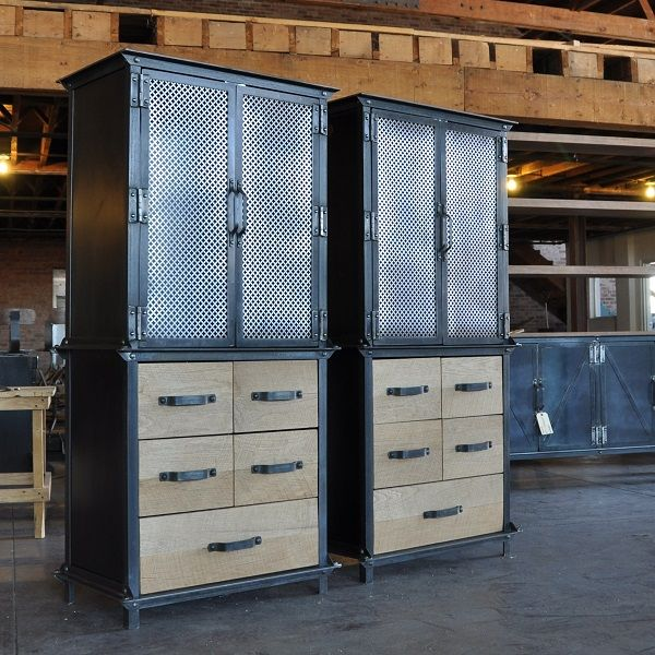 Ellis Armoire #vintageindustrialfurniture