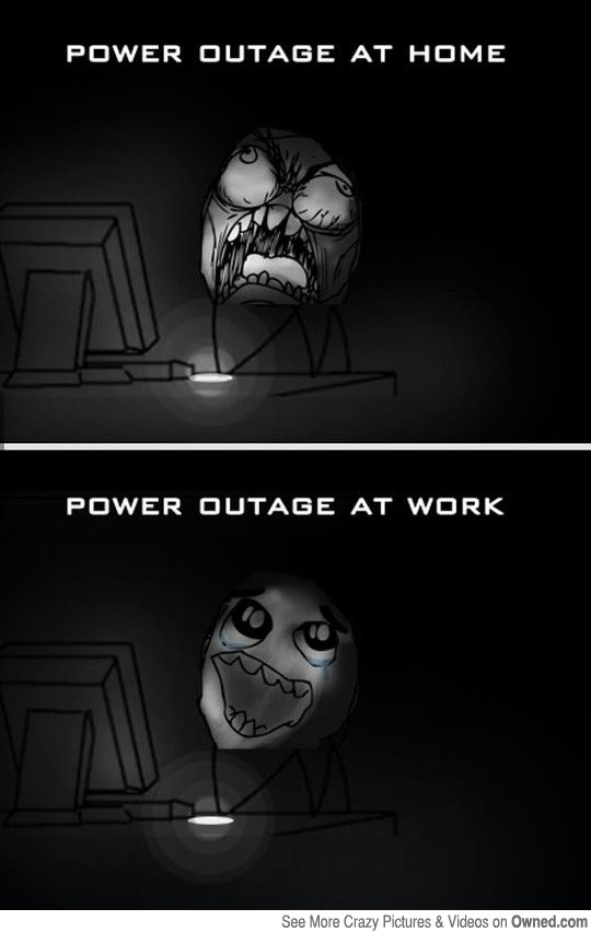 The Truth About Power Outages Work Humor Funny Pictures Power Outage