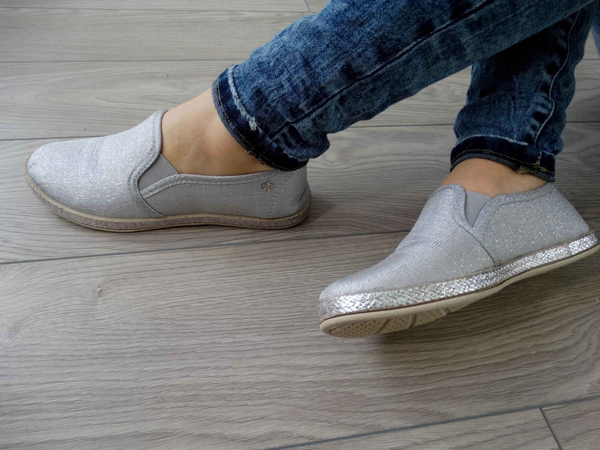 Szaro Srebrzyste Slip One 36 41 6074520791 Oficjalne Archiwum Allegro Slip On Sneaker Flat Espadrille Espadrilles