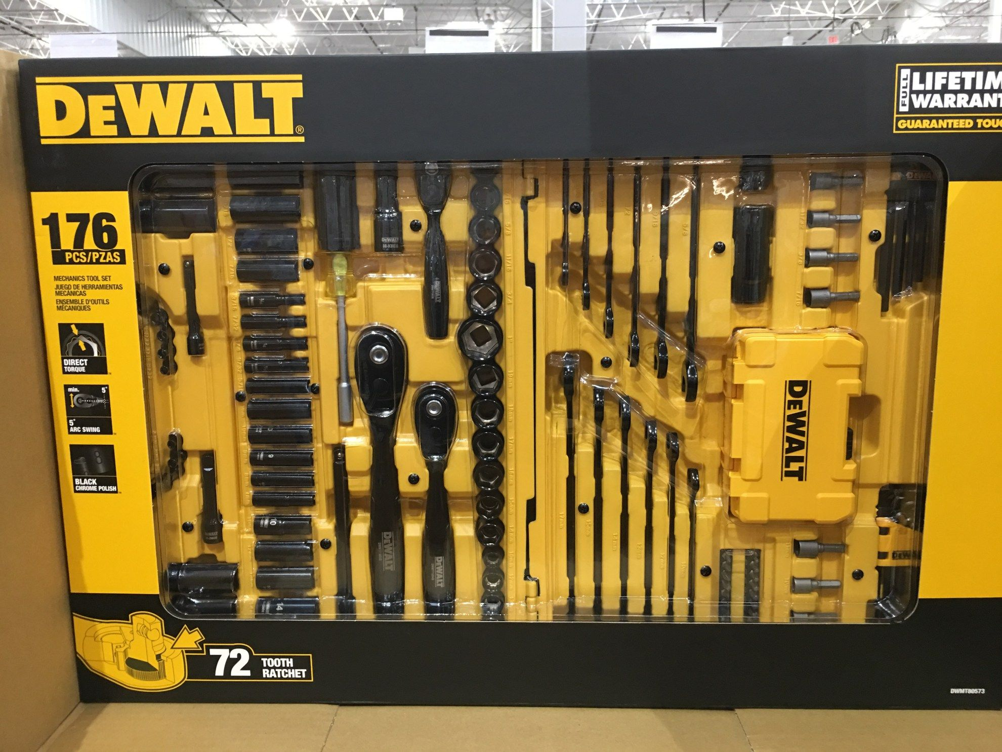 DeWalt 176 piece black chrome tool set - Costco Edition ...