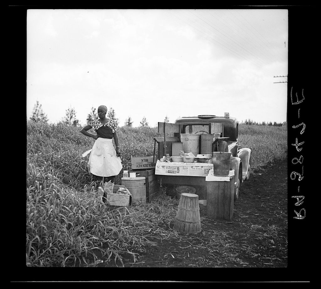 'Lunch Wagon for bean pickers. Belle Glade, Florida', Jan