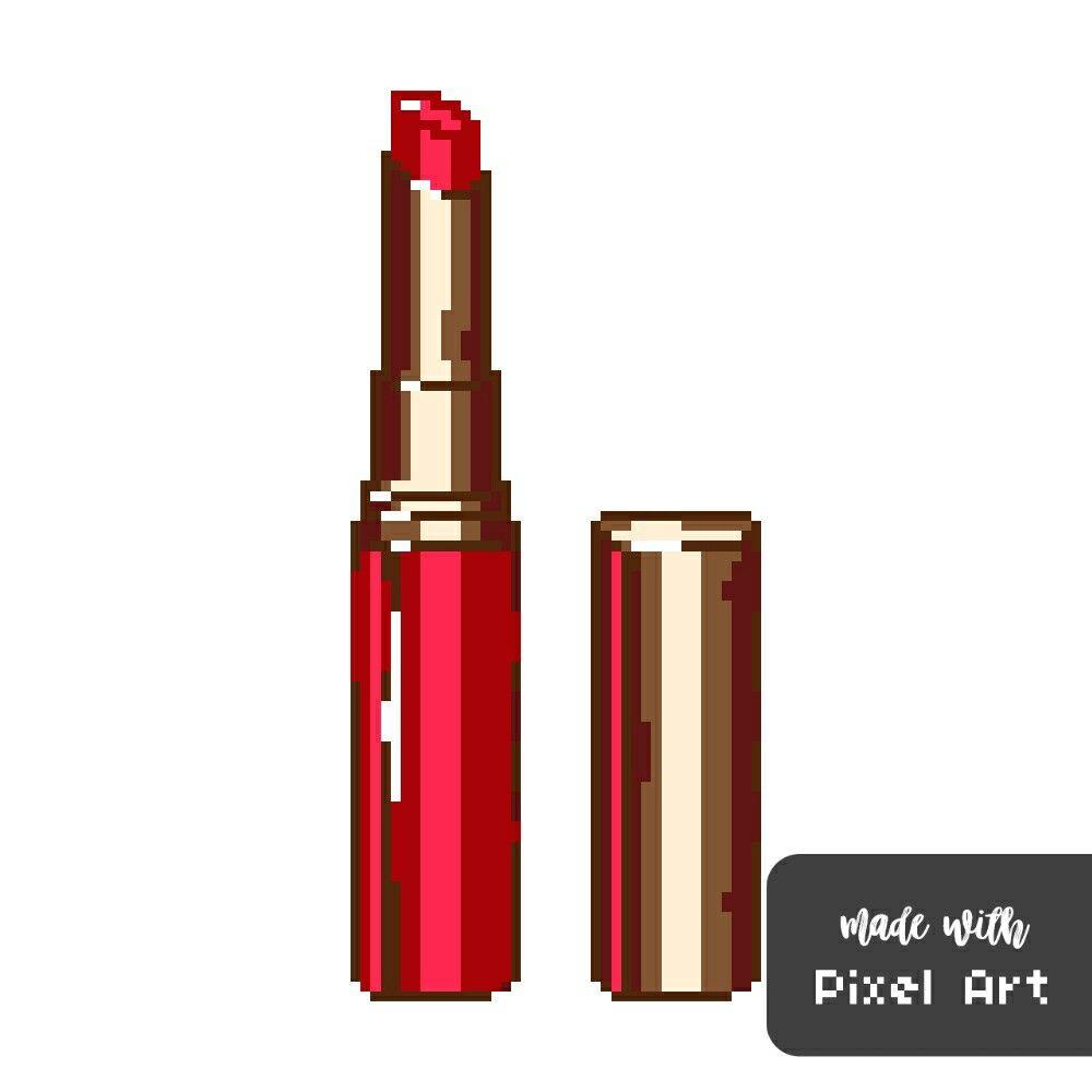 Rouge à Lèvre En Pixel Art Réalisé Avec L Application Pixel Art