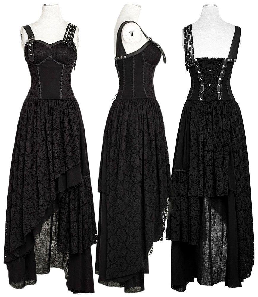 Punk Rave Black Gypsy Dress Black Q-291 | Gothik, Kleider und Schuhe