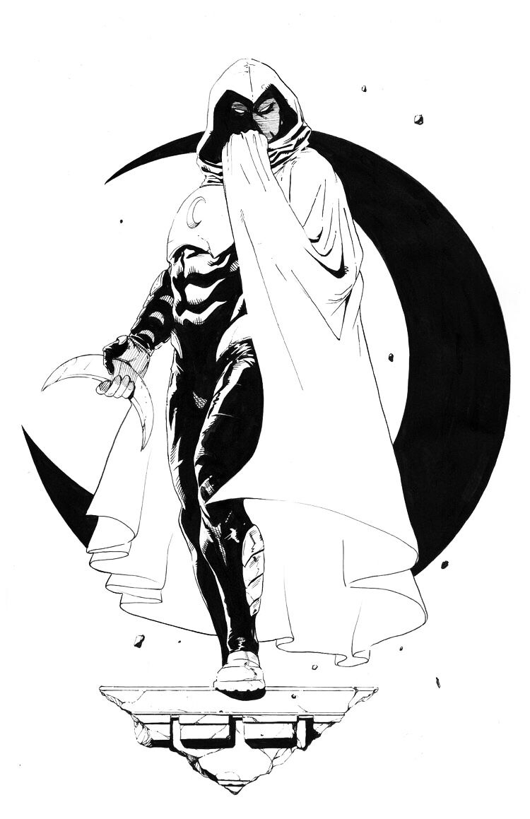 Moon Knight Coloring Pages on a budget