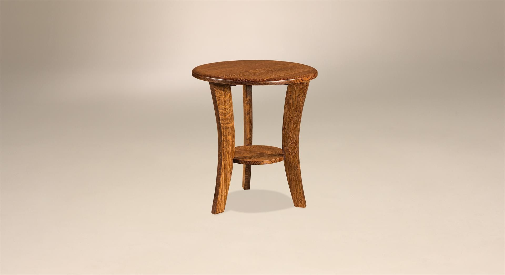 Amish Laurie Contemporary Round End Table Contemporary Style Furniture End Tables Amish Furniture