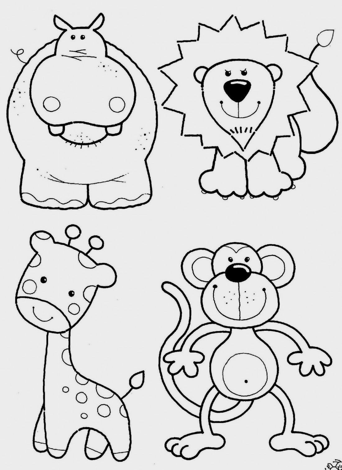 Jungle Animal Coloring Pages Printable Jungle Animal Coloring