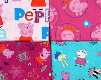 Per Yard Peppa Pig Fabric Panel From Springs by CuttingEdgeFabrics ... : peppa pig quilting fabric - Adamdwight.com