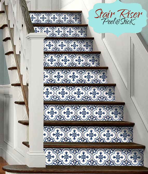 Carved Wood Stair Risers Stair Ideas Stamped Leather: Decorative Stair-riser Is Hot In Latest Home Decorating