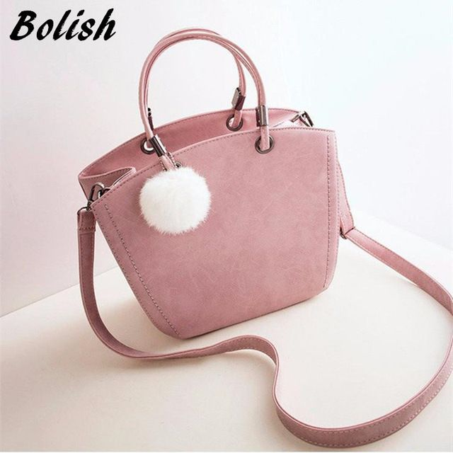 e35ffc0ddd4f Check current price Bolish New Fashion Women Shoulder Bag Vintage Winter Woman  Handbag Lovely Suede Messenger
