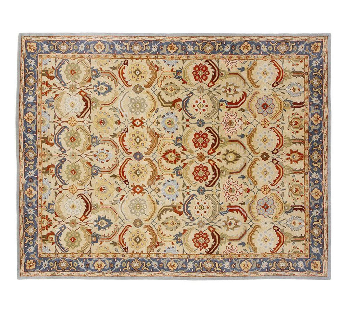Eva Persian Style Rug In 8 Round For Library