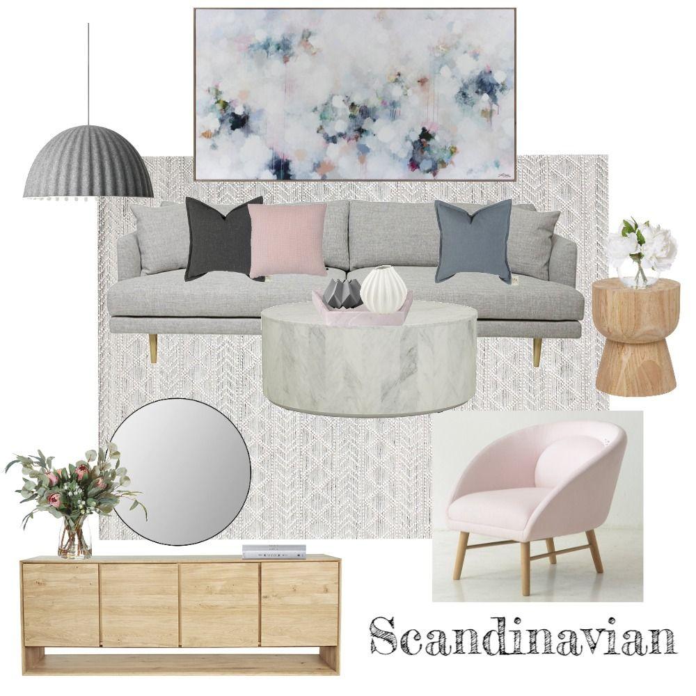 Scandinavian Style Mood Board Interior design mood board