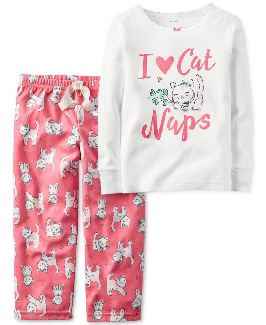 93d15c316 Carter s Toddler Girls  2-Pc. I Love Cat Naps Pajamas Set