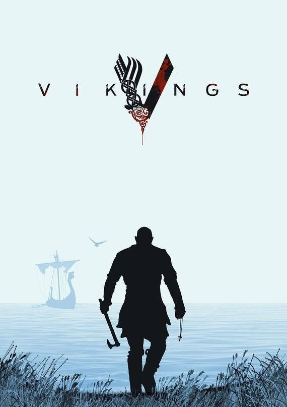 Vikings Ragnar Lothbrok Floki Bjorn Lagertha Ivar Ubbe Tv show Series Cover Alternative Graphic Design Minimalist Minimal Poster Print