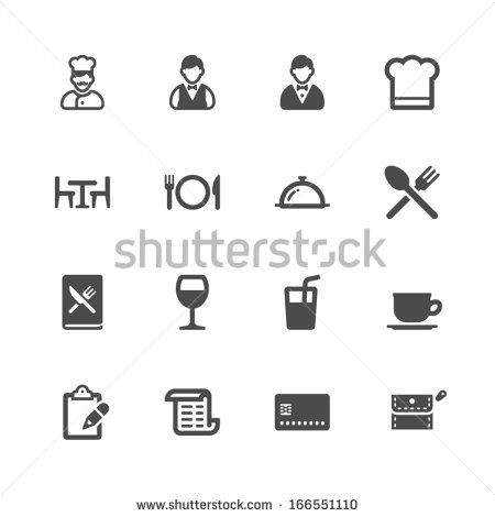 Restaurant icons - stock vector