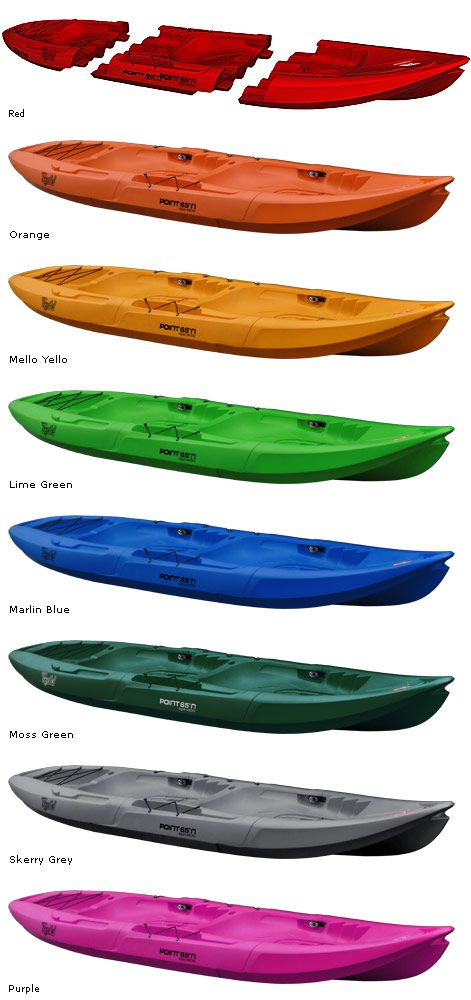 Tandem Kayak Sit On Top Take Apart Stable Tequila Point 65