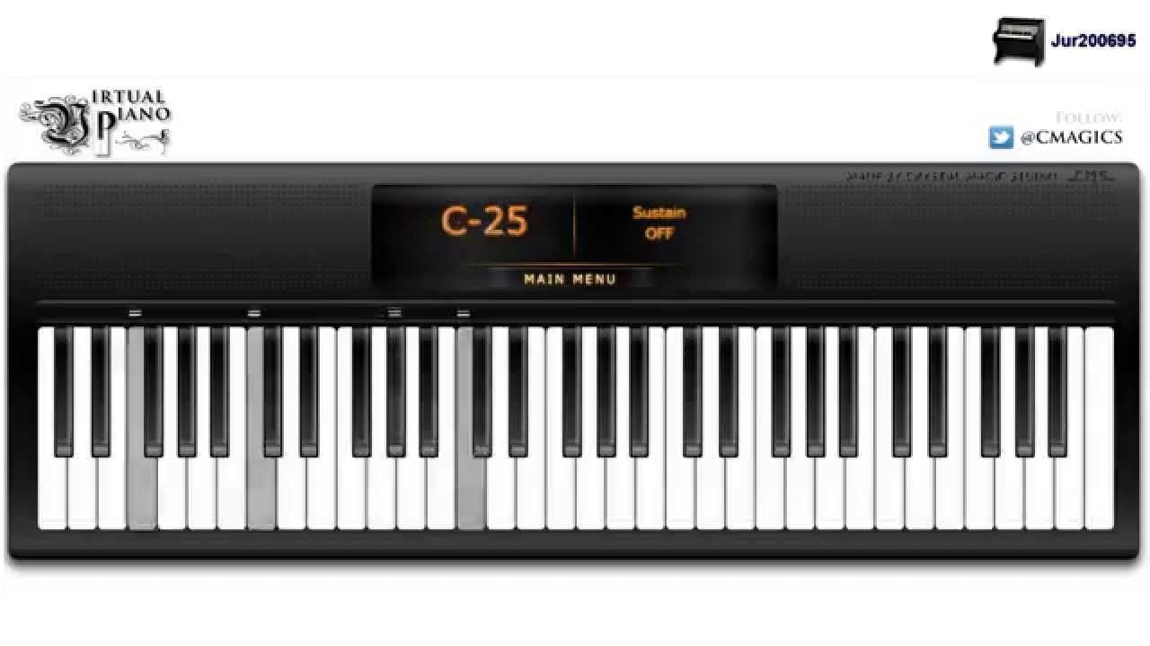 Frozen Let It Go Idina Menzel Virtual Piano Learn Piano