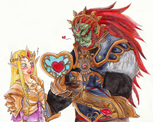Hyrule Warriors Ganon And Zelda Heart Container Offering 3 Hyrule Warriors Zelda Art Fan Drawing