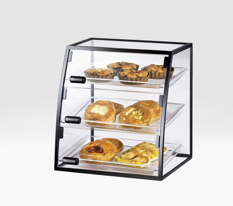 bakery rectangular display countertop acrylic en case cases pastry countertops
