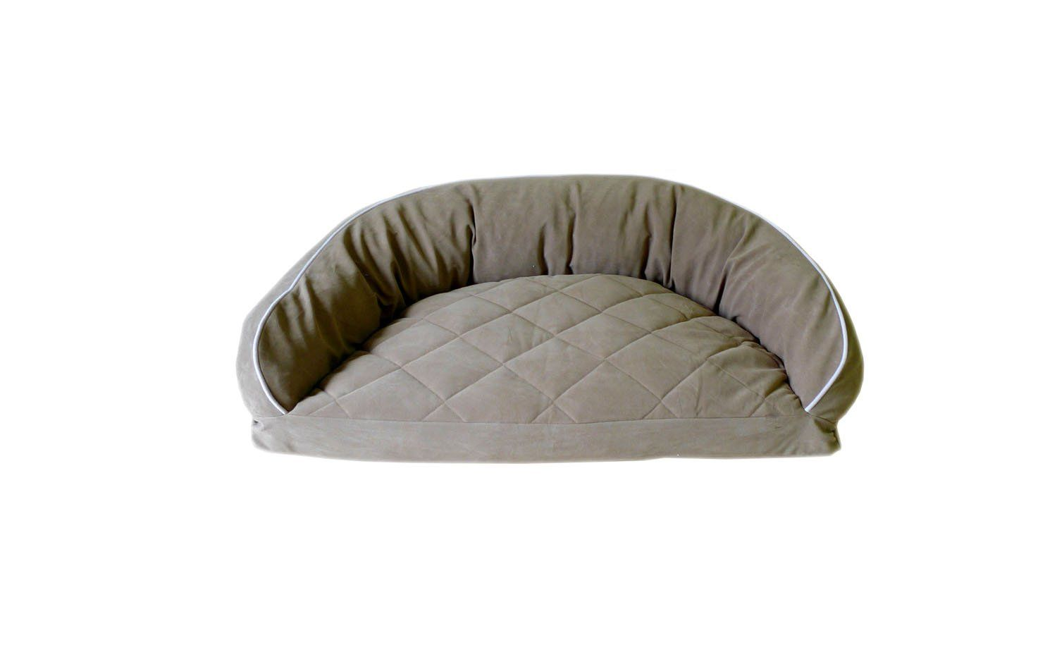 Cpc Diamond Quilted Semi Circle Sage Lounge For Dogs And Cats With Linen Piping 27 X 19 X 10 Inch Very Kind Of Your Presen Dog Bed Bolster Dog Bed Orthopedic Dog Bed