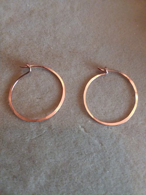 Photo of Jennifer VanBenschoten's simply hammered hoop earrings – ,,, hammer the hoop earrings …, # creoles #d …