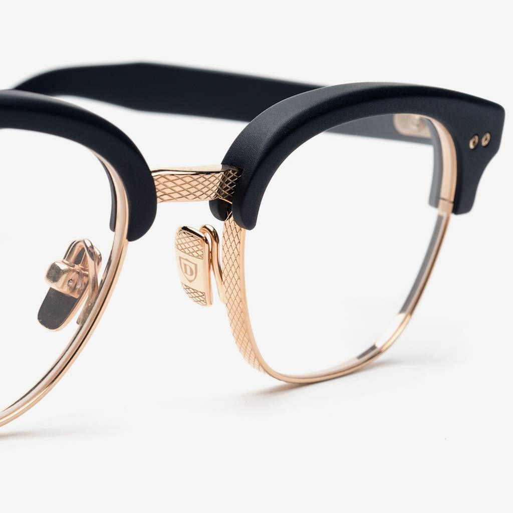 ditaeyewear select optical statesman black x gold glasses timelessmen