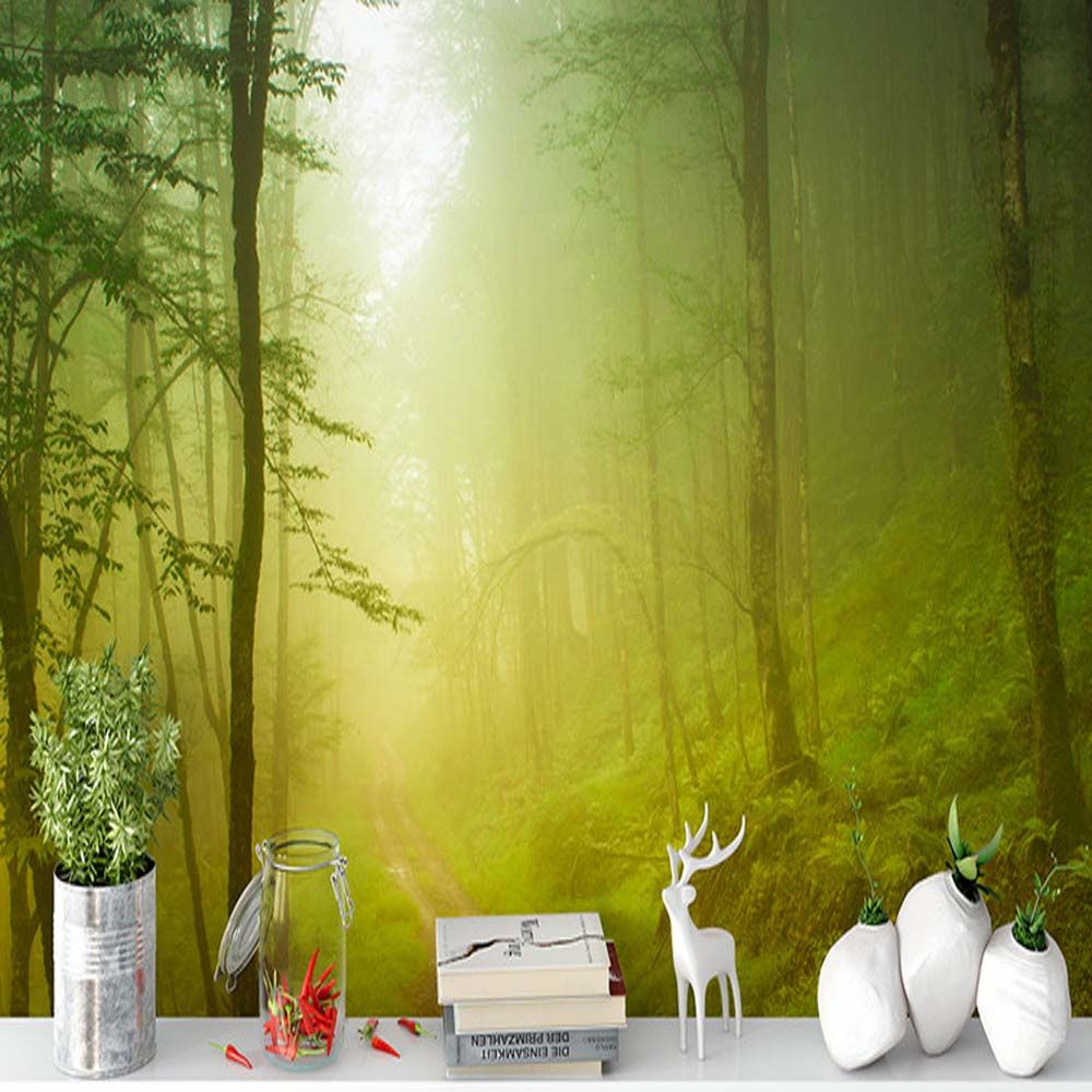 Find More Wallpapers Information about Forest Nature Landscape Wall ...