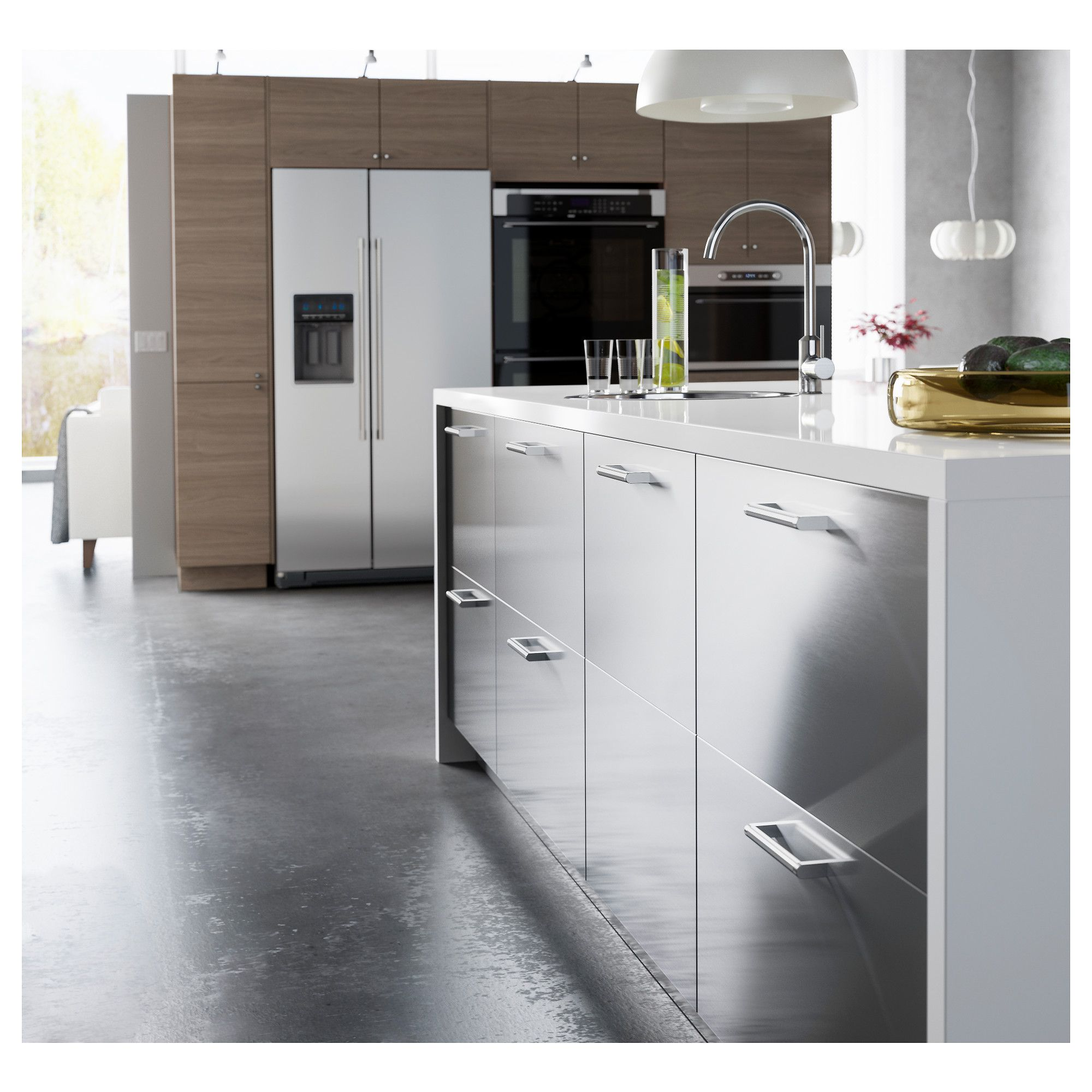 Grevsta Door Stainless Steel Ikea Replacing Kitchen Countertops Stainless Steel Kitchen Cabinets Ikea Kitchen