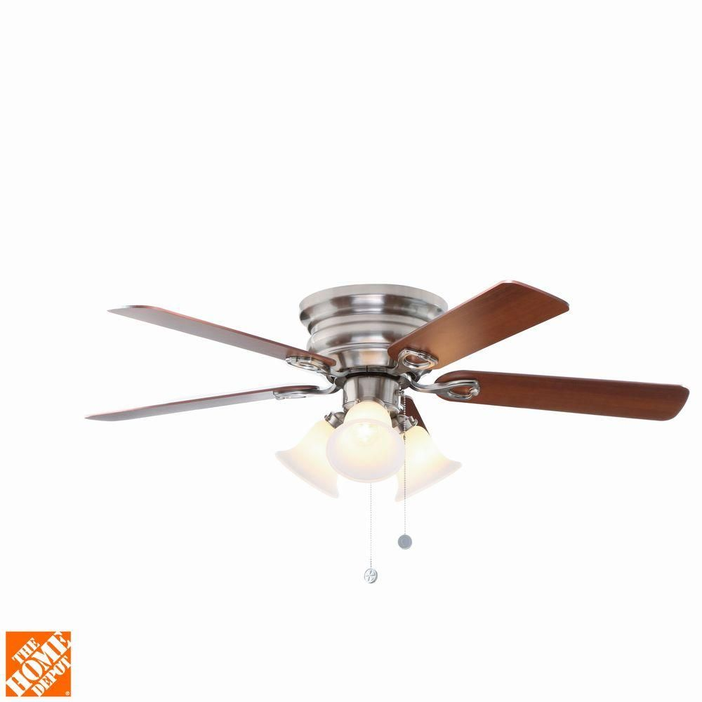 null clarkston 44 in. indoor brushed nickel ceiling fan with light