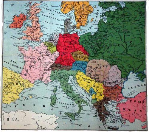 Russian propaganda map showing post-World War 1 borders after ...