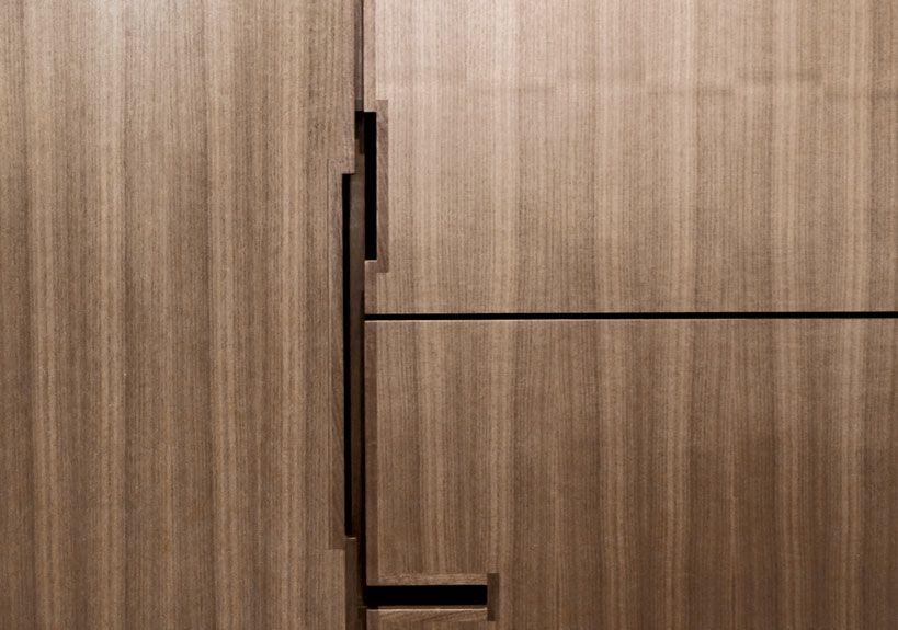 Shadow Line Finger Pull Kitchen Cabinet Doors