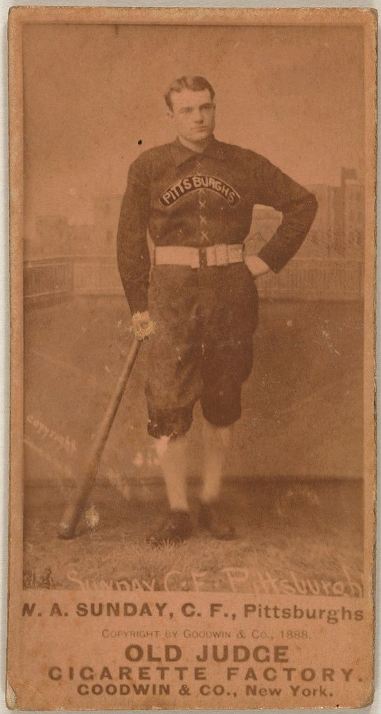 1888 Billy Sunday Pittsburgh Alleghenys Baseball Card Card Set