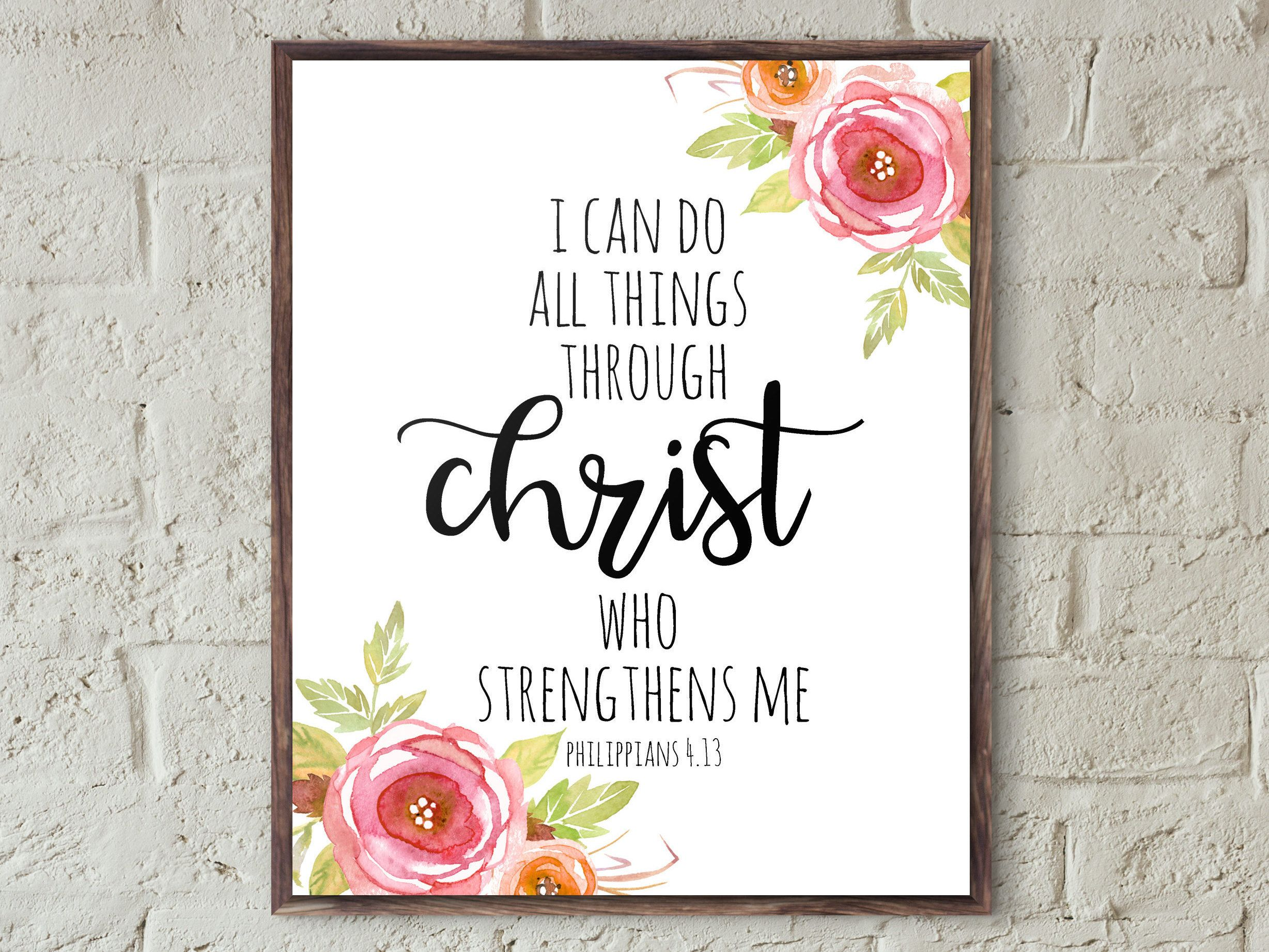 Free Printable Wall Art Quotes Bible Verses Frames