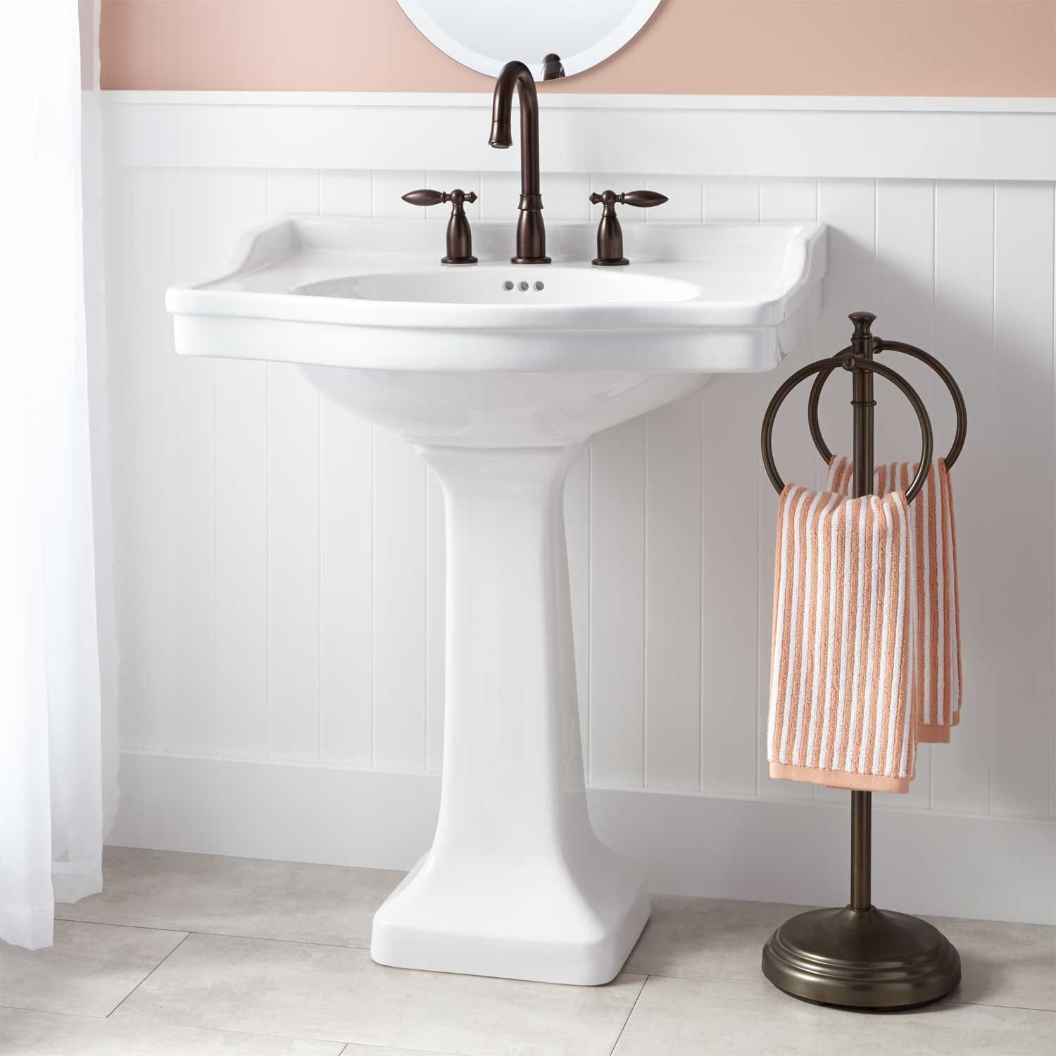 Cierra Large Porcelain Pedestal Sink Bathroom Ideas