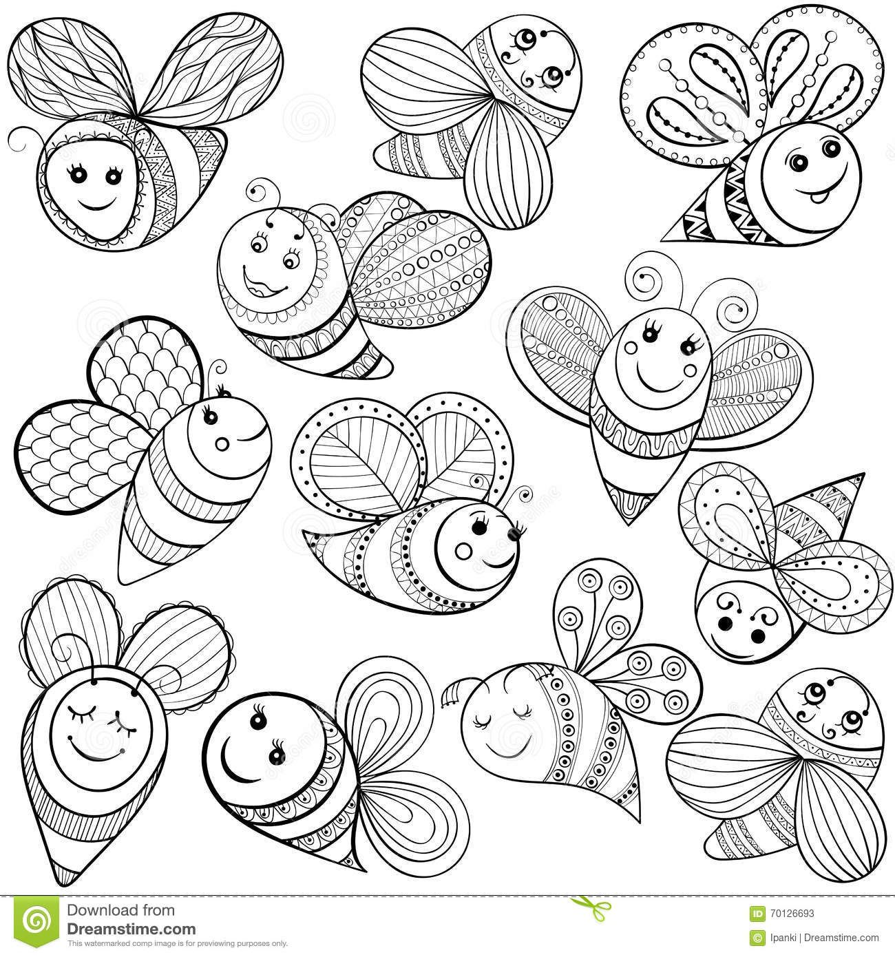 Bee Coloring Pages Drawing Inspiration Clipart Best Clipart Best Bee Coloring Pages Bee Stencil Bee Printables
