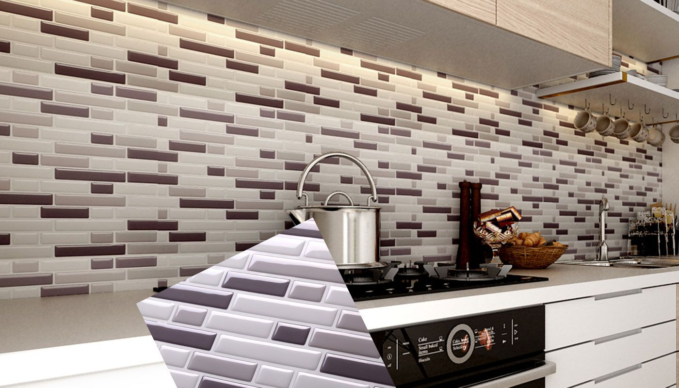 Peel And Stick Tile Backsplash For Kitchen Wall Mosaic Interior