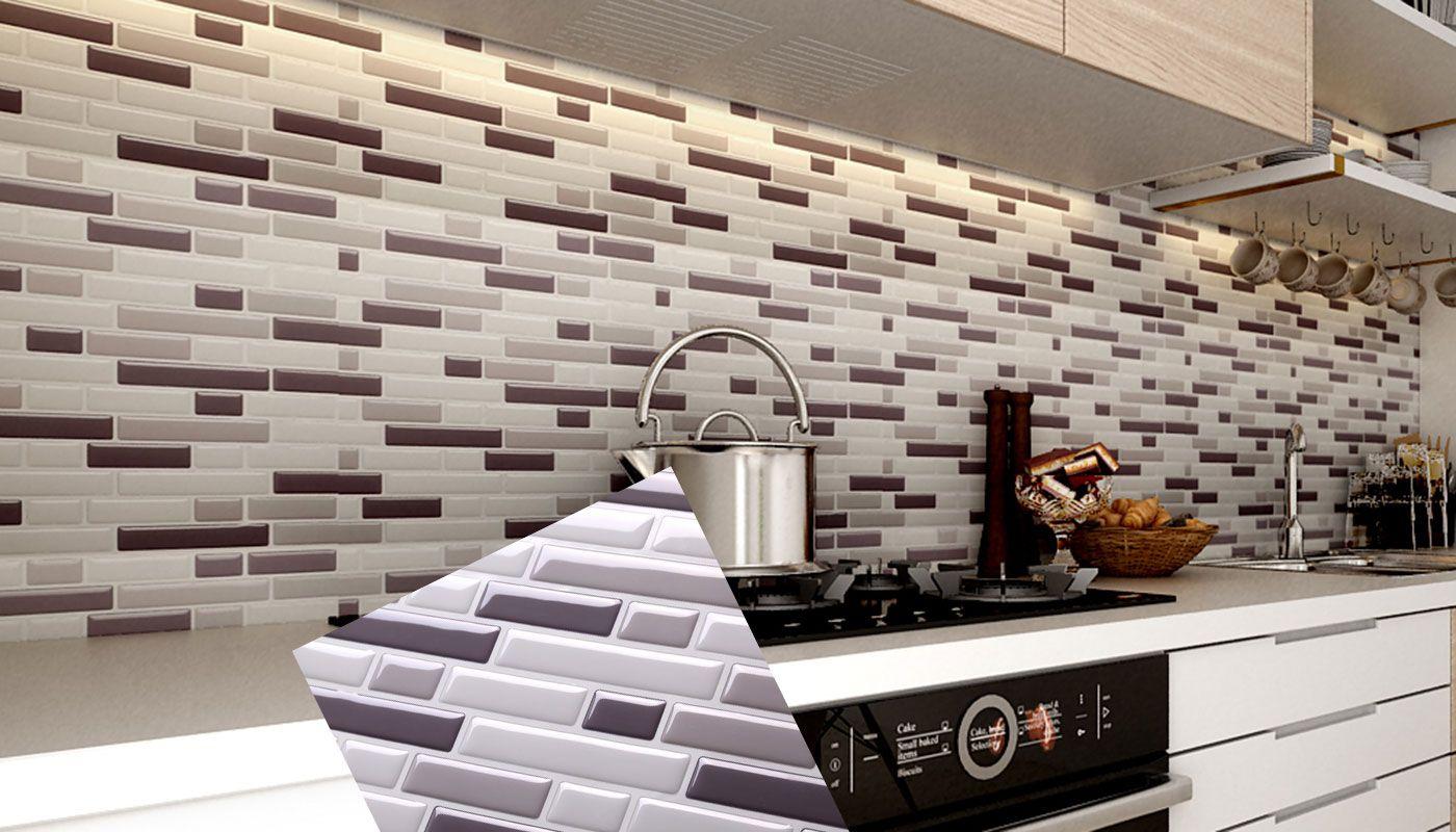 Peel And Stick Tile Backsplash For Kitchen Wall Mosaic Interior