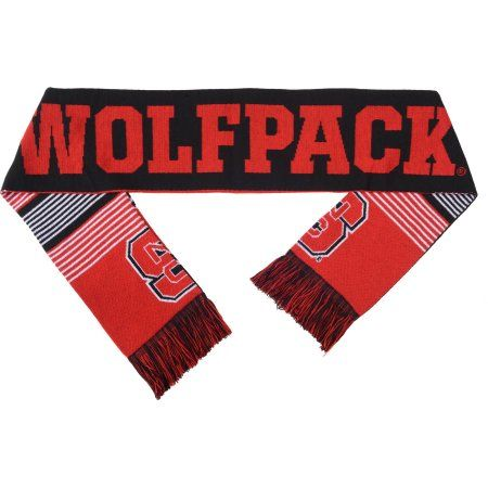 Ncaa Forever Collectibles Reversible Split Logo Scarf, NC State Wolfpack, Red