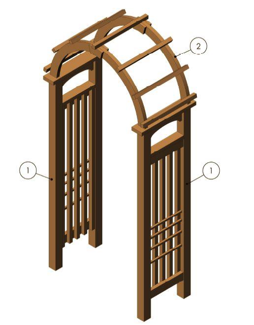 Garden arch arbor arbor designs pinterest diy for Wooden garden trellis designs