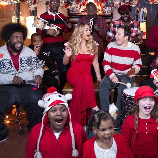 mariah carey jimmy fallon and the roots use toy instruments perform all i want for christmas - Christmas Shows Tonight