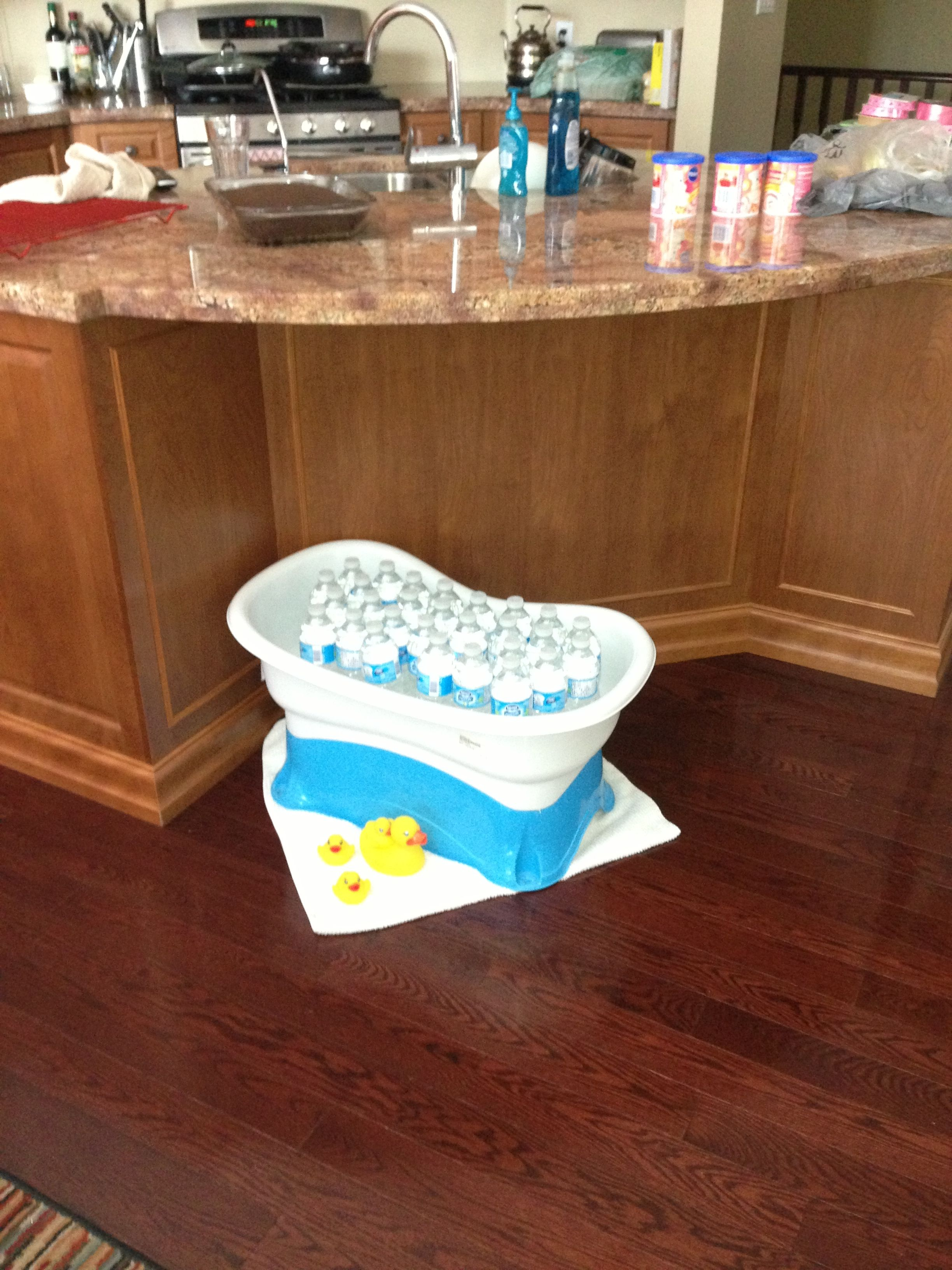 Baby Bathtub To Hold Water Bottles At Baby Shower Baby