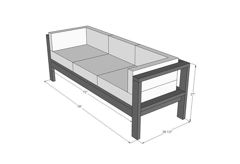 DIY - Summer Outdoor Sofa - Quiet Corner
