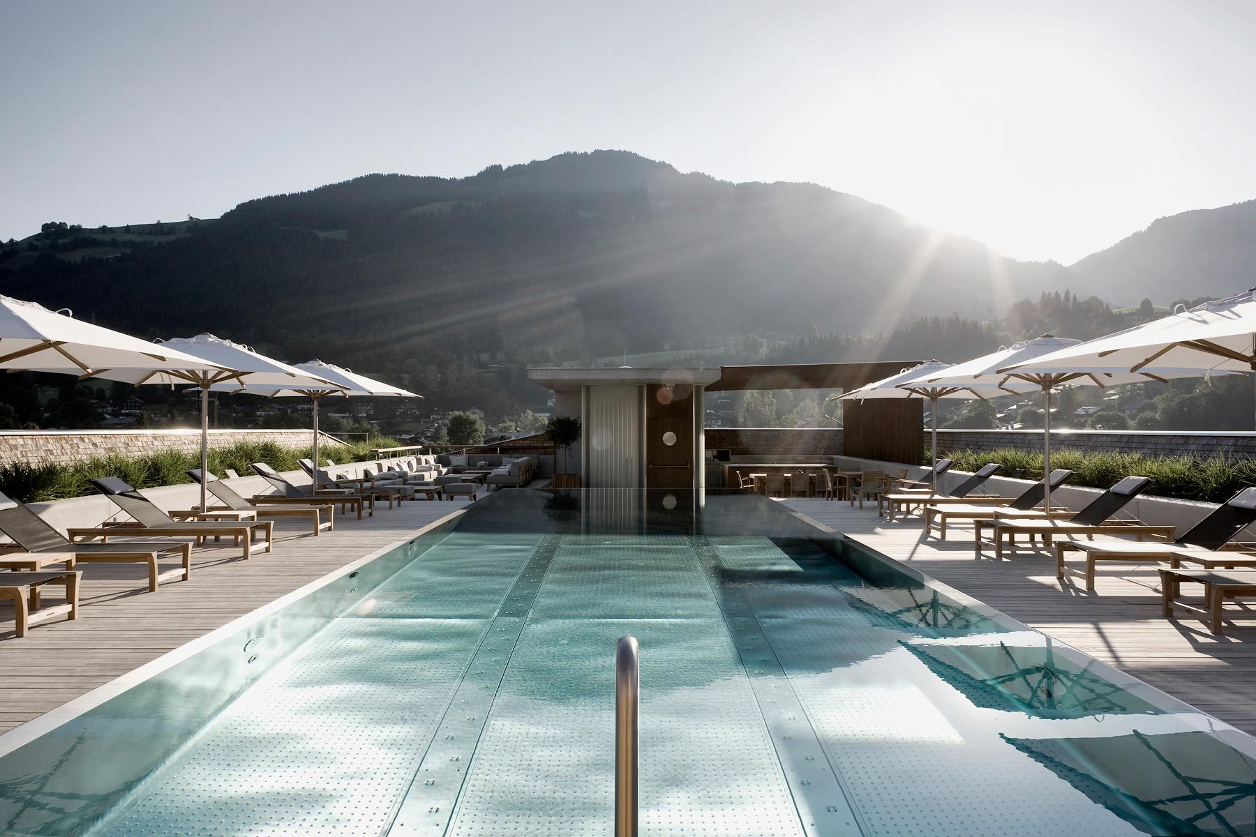 Hotel Schwarzer Adler Pool At The Hotel Schwarzer Adler In Kitzba 1 4 Hel Austria Designed