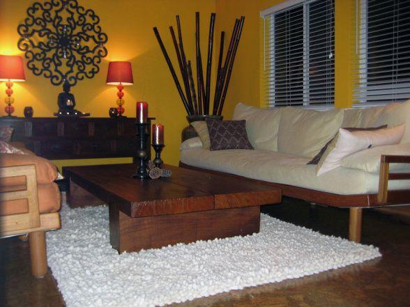 Asian Inspired Living Room  Wish I Had A Custom Thai Sofa!