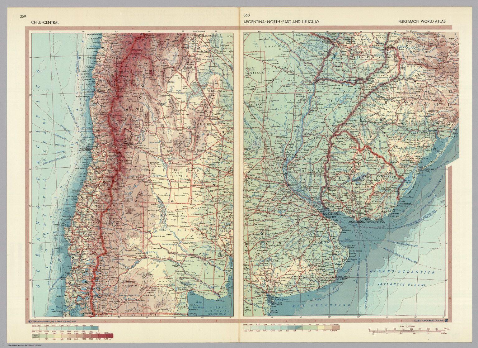 Mapa Historico Chile Central Argentina Al Norteoriental Y - Uruguay map atlas