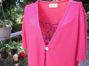 Kathy Lee Collection Shell button top Coral Color Size L/XL