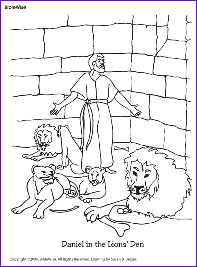 Coloring Daniel in the Lions Den Kids Korner BibleWise