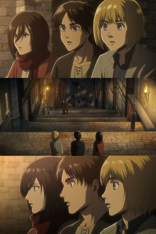 Eren, Armin and Mikasa | Attack on Titan | Shingeki no Kyojin