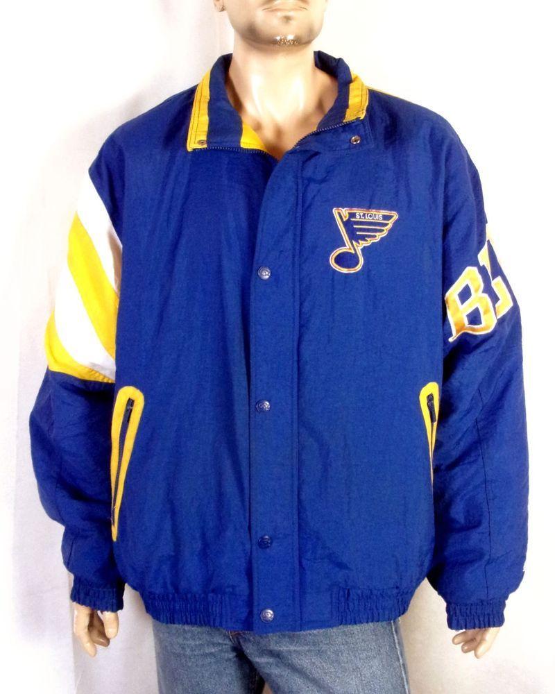 vtg 90s Starter MINTY puffy St. Louis Blues Jacket NHL Hull Gretzky  Shanahan XL 3ba319b85
