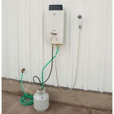 Camp Chef Triton 10 L Portable Water Heater Hwd10 The Home Depot Portable Water Heater Water Heater Solar Panels