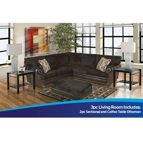 Best Bushline 3Pc Midtown Sectional Aarons 1360 97 Living 400 x 300